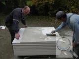 Stěna, vnitřní zateplení systémem redstone CLIMA PLUS, průběh prací (3)